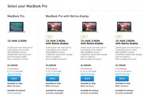 Apple sắp khai tử Macbook Pro 13 inch màn hình thường-1