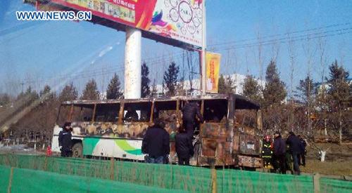TQ: Xe buýt bốc cháy, 10 người thiệt mạng-3