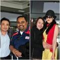 Làng sao - Thu Phương và chồng được chào đón ở sân bay