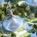 Nhà đẹp - Nhà hình nón ở siêu thành phố tương lai TQ