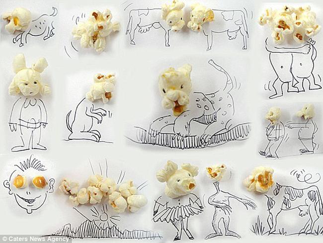 Xem nghệ sĩ  & quot;thổi hồn & quot; vào thực phẩm