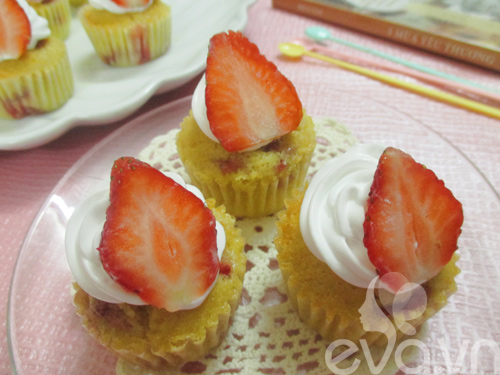 cupcake dau tay thom ngon cho be - 6