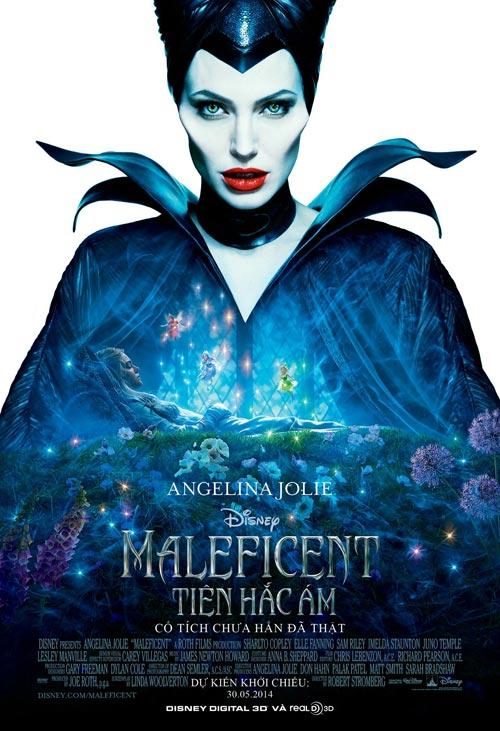 angelina jolie quyen luc trong poster maleficent - 1