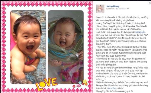 hh huong giang khoe con gai sap tron 1 tuoi - 3