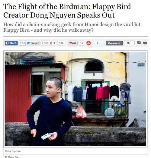 xon xao bai phong van doc quyen cha de flappy bird - 1