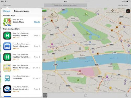 apple maps duoc nang cap manh me trong ios 8 - 1