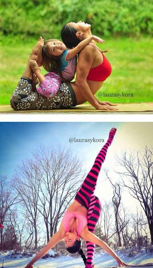 me 2 con dang dep hon mau nho yoga - 13