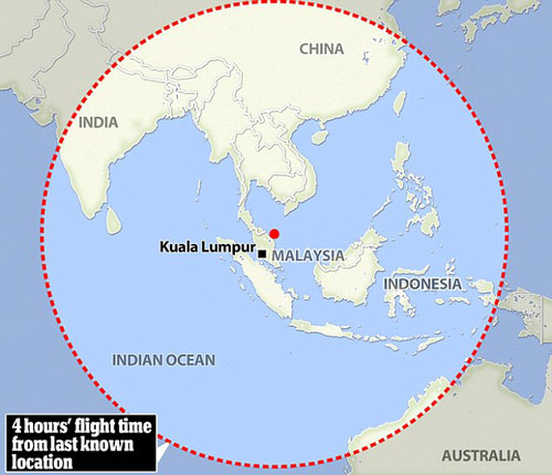 my chuyen huong tim mh370 sang an do duong - 2