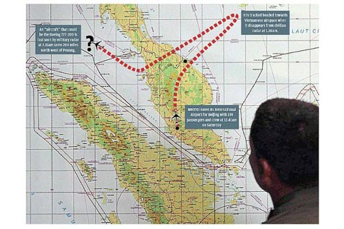 mh370 da bi ep bay ve phia an do? - 2