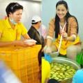 Làng sao - Trang Trần, Maya giản dị nấu cơm từ thiện