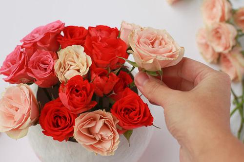 3 buoc de co binh hoa ombre xinh yeu - 3