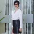Thời trang - Xuân Lan thanh lịch với style đen- trắng