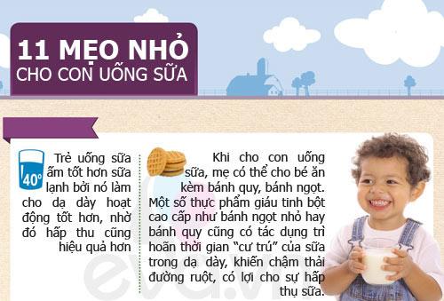 tips cho tre uong sua cuc tot it me biet - 1