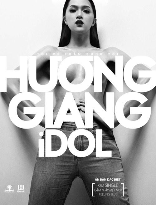 huong giang idol ban nude tren bia sach - 7