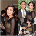 Làng sao - Vợ chồng Tăng Thanh Hà thân mật dự tiệc sang