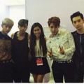 Em chồng Hà Tăng rạng rỡ bên nhóm 2PM