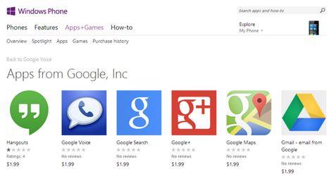 ung dung gia google xuat hien tren windows phone store - 1