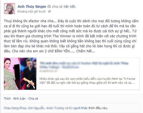 """anh thuy: """"khong lua khan gia tai x-factor"""" - 5"""