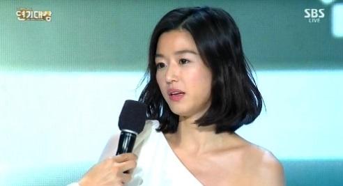 """minh tinh trai dat"" jeon ji hyun chien thang daesang - 1"