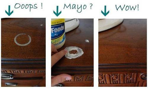 dung mayonnaise lau ban tra sach bong trong 2 phut - 2