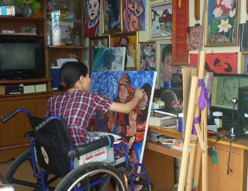 Nữ họa sĩ khuyết tật với động lực sống từ chuyện tình ảo-2