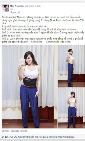 hotgirl mai tho: bai phuc vong eo 63 cm chi 15 ngay sau sinh - 3