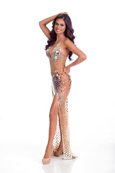 Mát mắt vì váy dạ tiệc táo bạo của hoa hậu Hoàn vũ 2014 - 1
