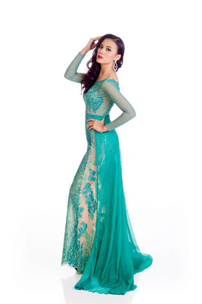 Mát mắt vì váy dạ tiệc táo bạo của hoa hậu Hoàn vũ 2014 - 9