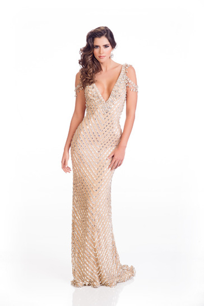 Mát mắt vì váy dạ tiệc táo bạo của hoa hậu Hoàn vũ 2014 - 16