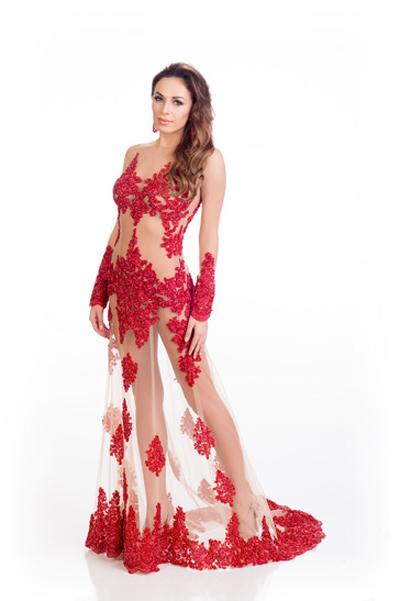 Mát mắt vì váy dạ tiệc táo bạo của hoa hậu Hoàn vũ 2014 - 5