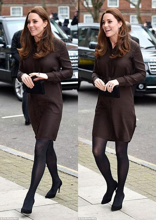 Bụng bầu khá lớn, Công nương Kate vẫn đi giày cao gót-2