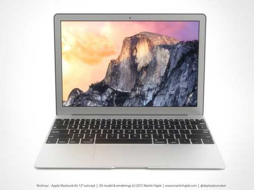 ngam concept chiec macbook air kich thuoc 12 inch ma apple sap ra mat - 1