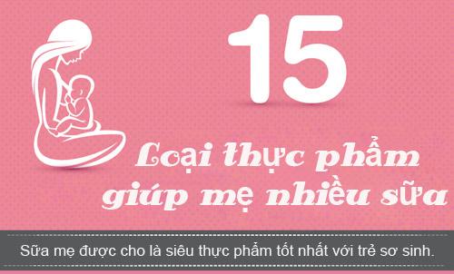 15 loai thuc pham giup sua me ve uot ao - 1