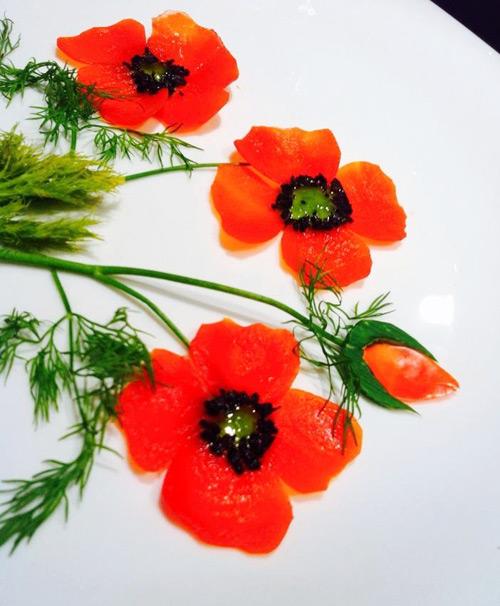 tia hoa canh buom trang tri dia an ngay tet - 11