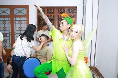 angela phuong trinh kem xinh dep vi mac vay bi nhau - 16