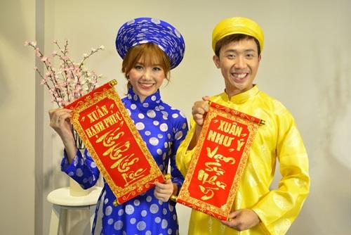 tran thanh dien ao dai tet nghich ngom ben hari won - 2