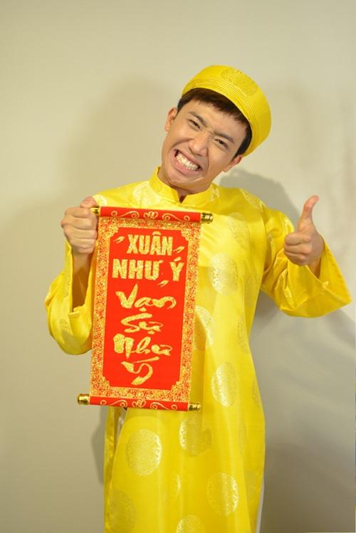 tran thanh dien ao dai tet nghich ngom ben hari won - 3