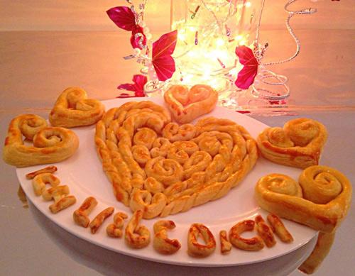banh trai tim xinh cho valentine them lung linh - 10