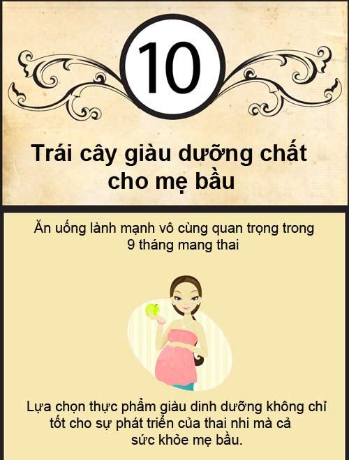 top 10 trai cay me bau khong an hoi phi! - 1
