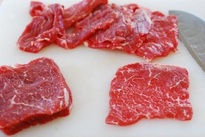thịt bò thái lát