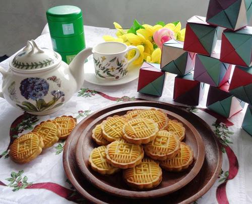 Bánh đậu xanh nướng giòn thơm đón nắng xuân-11