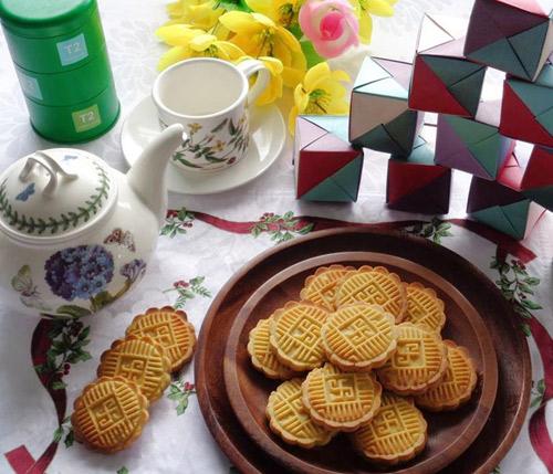 Bánh đậu xanh nướng giòn thơm đón nắng xuân-12