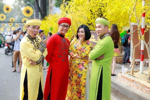 """phuong thanh mac ao dai lam """"pho nhay"""" cho nhom mtv - 7"""