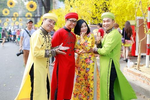 """phuong thanh mac ao dai lam """"pho nhay"""" cho nhom mtv - 8"""