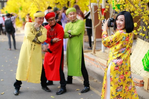 """phuong thanh mac ao dai lam """"pho nhay"""" cho nhom mtv - 14"""