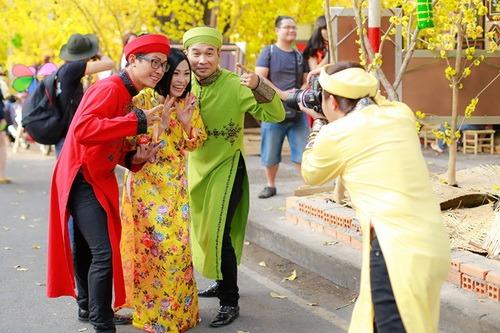 """phuong thanh mac ao dai lam """"pho nhay"""" cho nhom mtv - 16"""