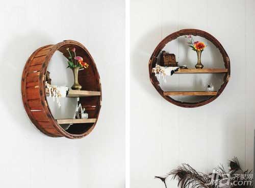 Biến thùng gỗ bỏ đi thành giá đựng đồ đẹp mê ly - 1