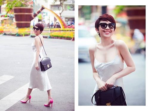 Tóc Tiên mặc váy ngủ gợi cảm hết mức xuống phố-4