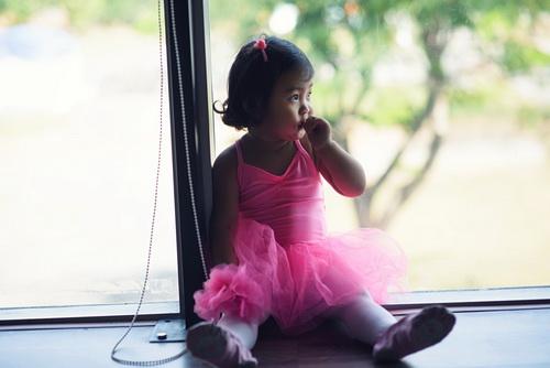"""hh huong giang khoe con gai """"tro tai"""" mua ballet - 2"""