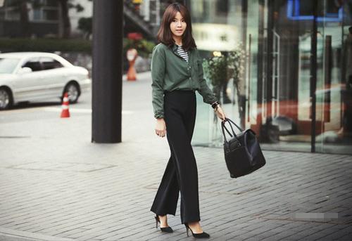 Mách nữ công sở cách mặc quần cao lên tức thì - 9